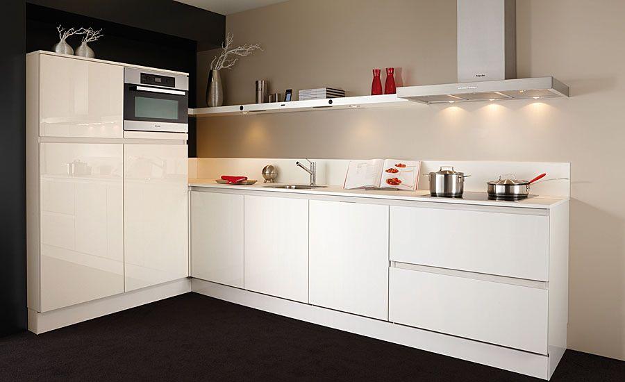 Keuken Wit Greeploos : keukenaanbod van Nederland Keller Greeploos hoogglans wit [37749