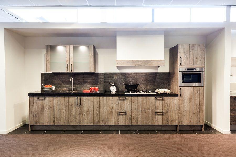 ... van Nederland  Rechte landelijke keuken in catania eiken [52431